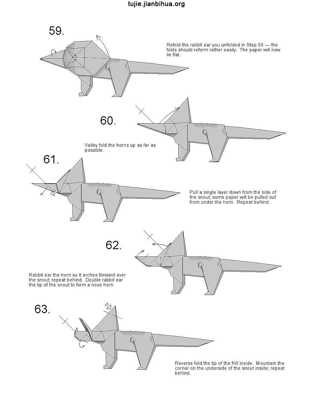 恐龙折纸的做法图解(第4页)