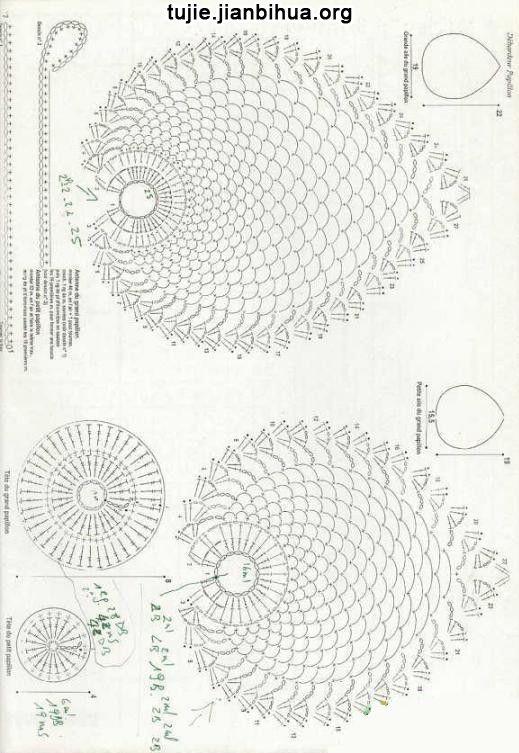 蝴蝶毛衣编织方法图解