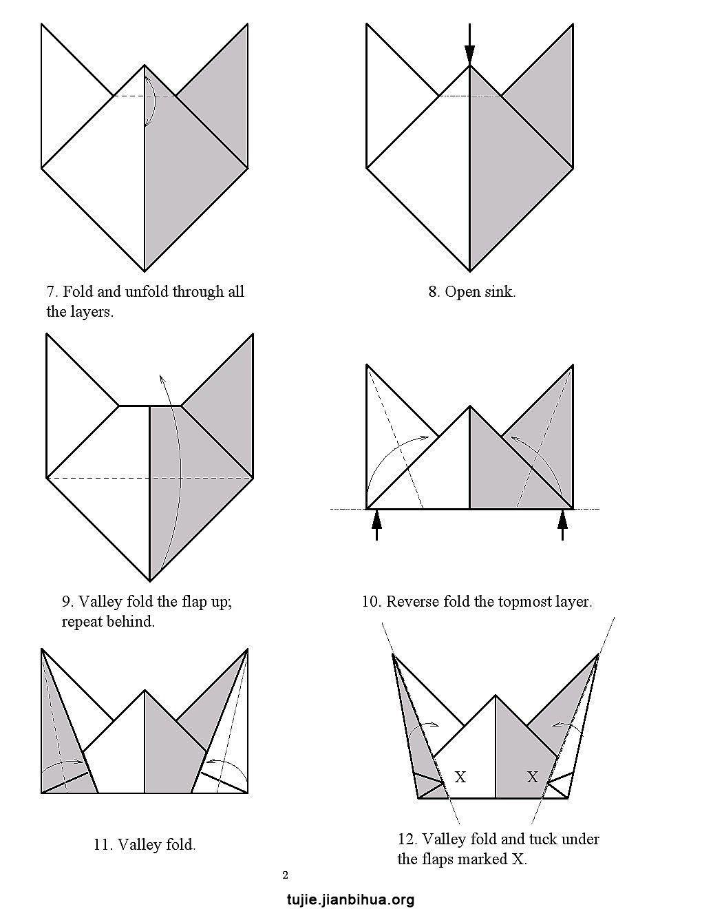 小丑帽子折纸步骤图解