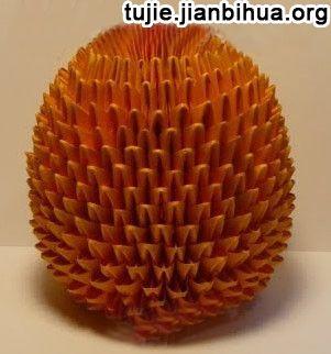 纸菠萝折法图解教程