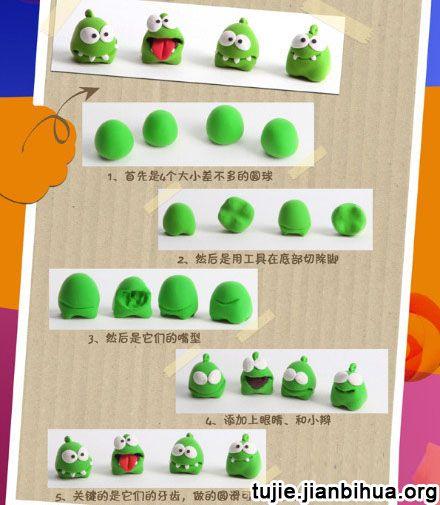 软陶制作粘土小青蛙教程图解