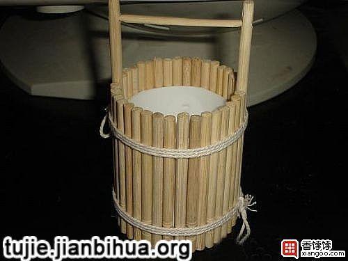 筷子制作水桶的方法图解