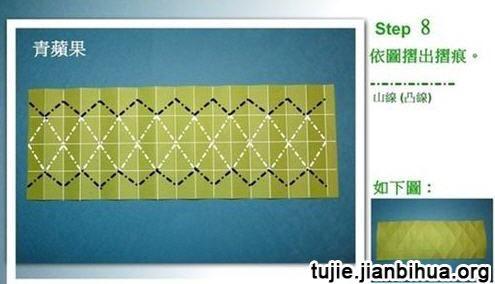 立体折纸青苹果教程图解