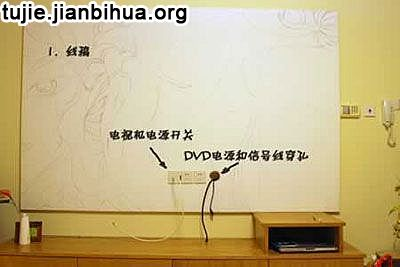 手绘电视背景墙制作步骤图解