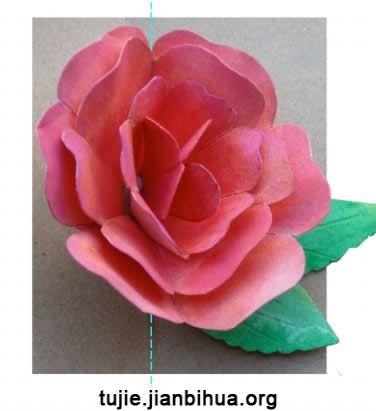 折纸玫瑰花方法图解