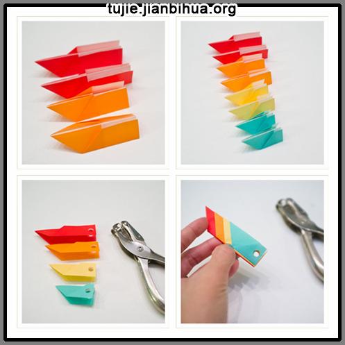 diy创意折纸花闹钟手工教程