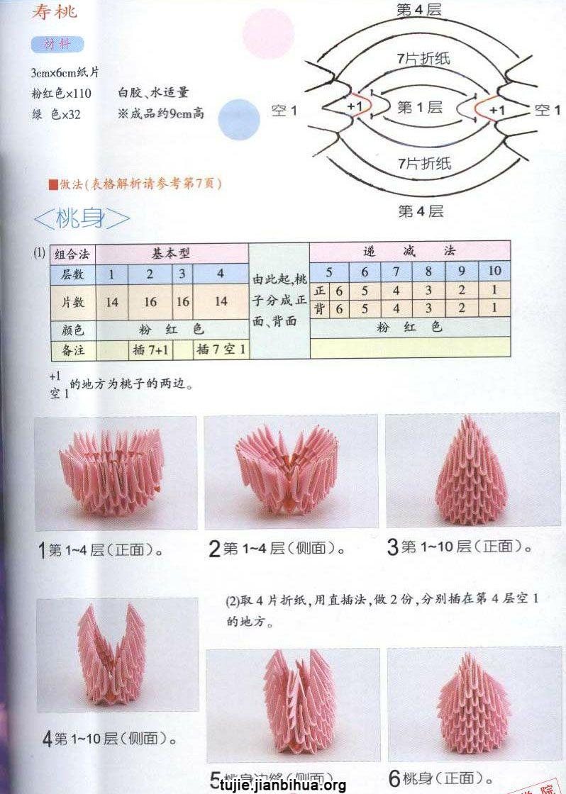 寿桃折纸的做法图解图片