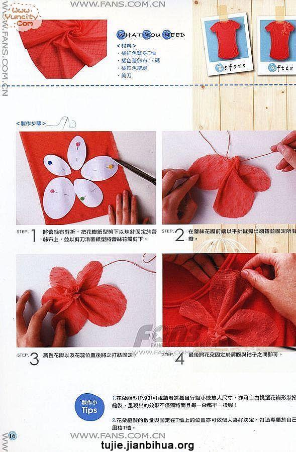 布艺装饰花做法图解