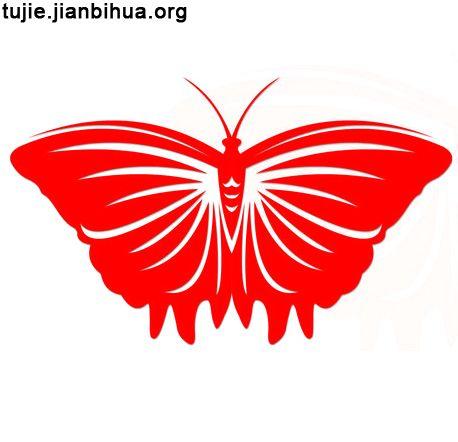 蝴蝶剪纸图案制作方法图解
