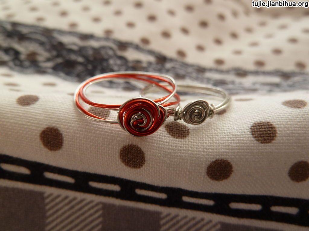 铁丝铜丝玫瑰戒指教程图解