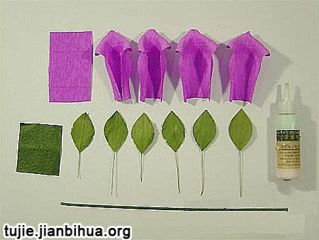 皱纹纸玫瑰花的折法|《纸玫瑰花的折法图解》|纸玫瑰