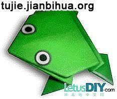 青蛙折纸教程图解