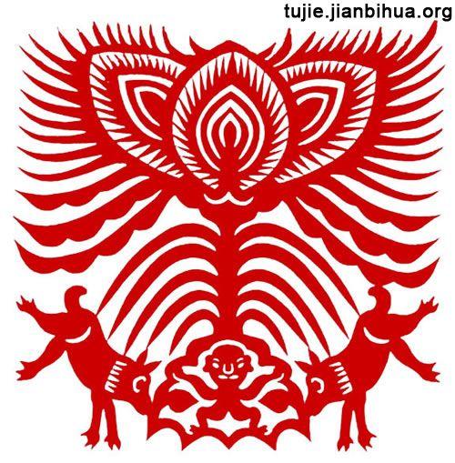 民间艺术 > 狗图腾剪纸作品赏析    图腾崇拜是原始人认为某种动物