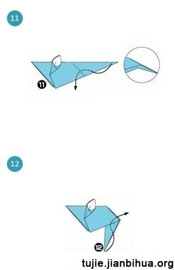 折纸老鼠的折法图解