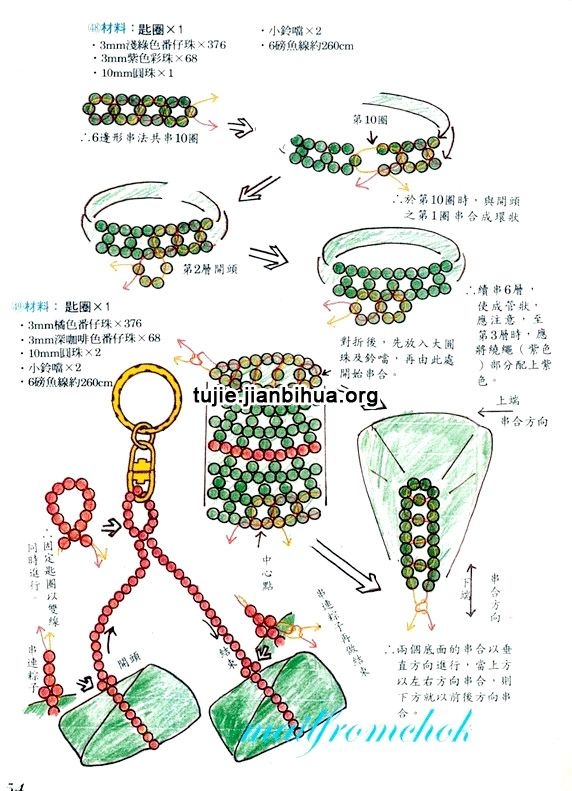 串珠粽子挂件方法图解
