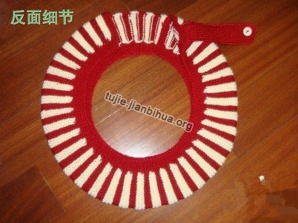 毛线编织马桶坐垫_毛线马桶垫的做法图解