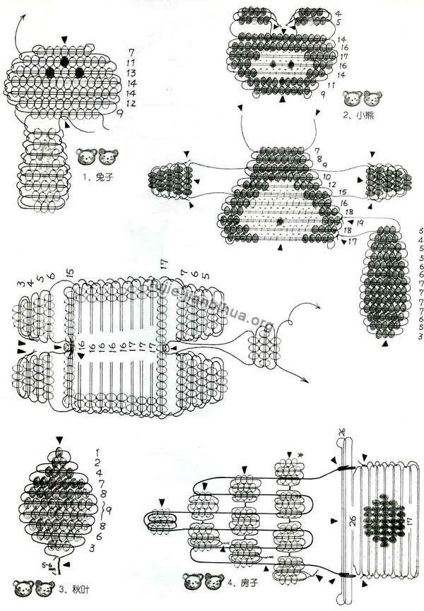 小动物串珠方法图解(一)