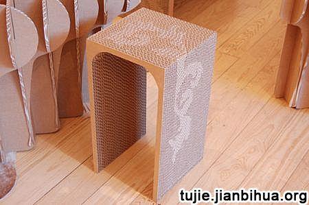 纸板做家具作品欣赏