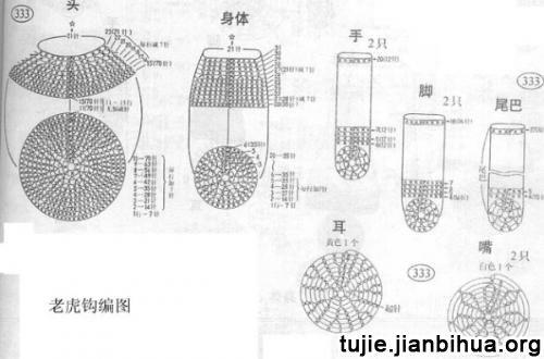 十二生肖编织图解教程