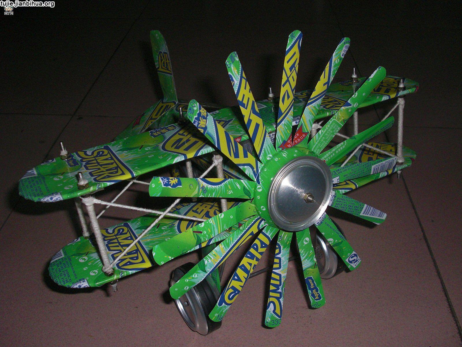 易拉罐飞机制作图解