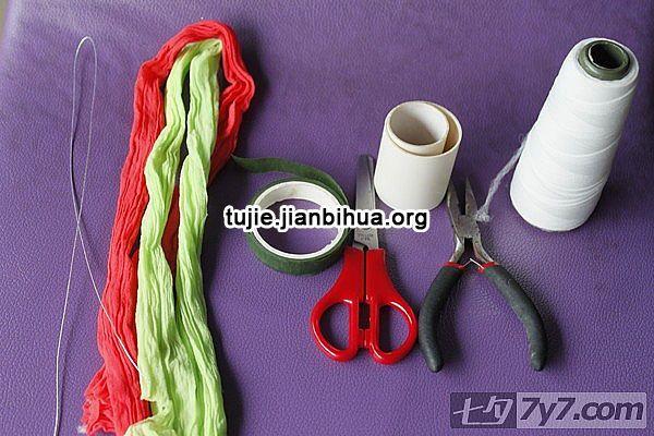 丝袜手工花制作方法图解