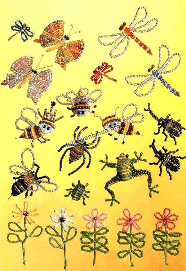 串珠昆虫制作步骤图解