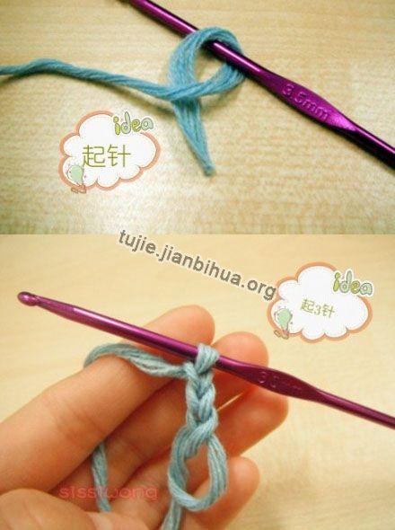 钩针编织杯垫方法图解