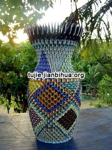 折乌龟的步骤_折纸花瓶方法图解