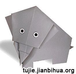 大象折纸方法图解