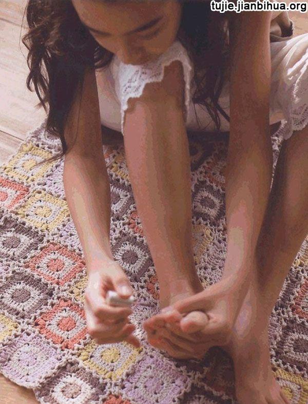 编织地毯方法图解