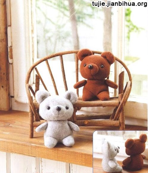 小熊布偶制作方法图解