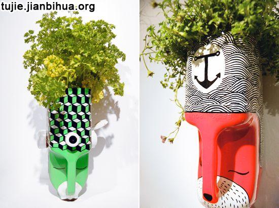 油桶制作花盆作品欣赏