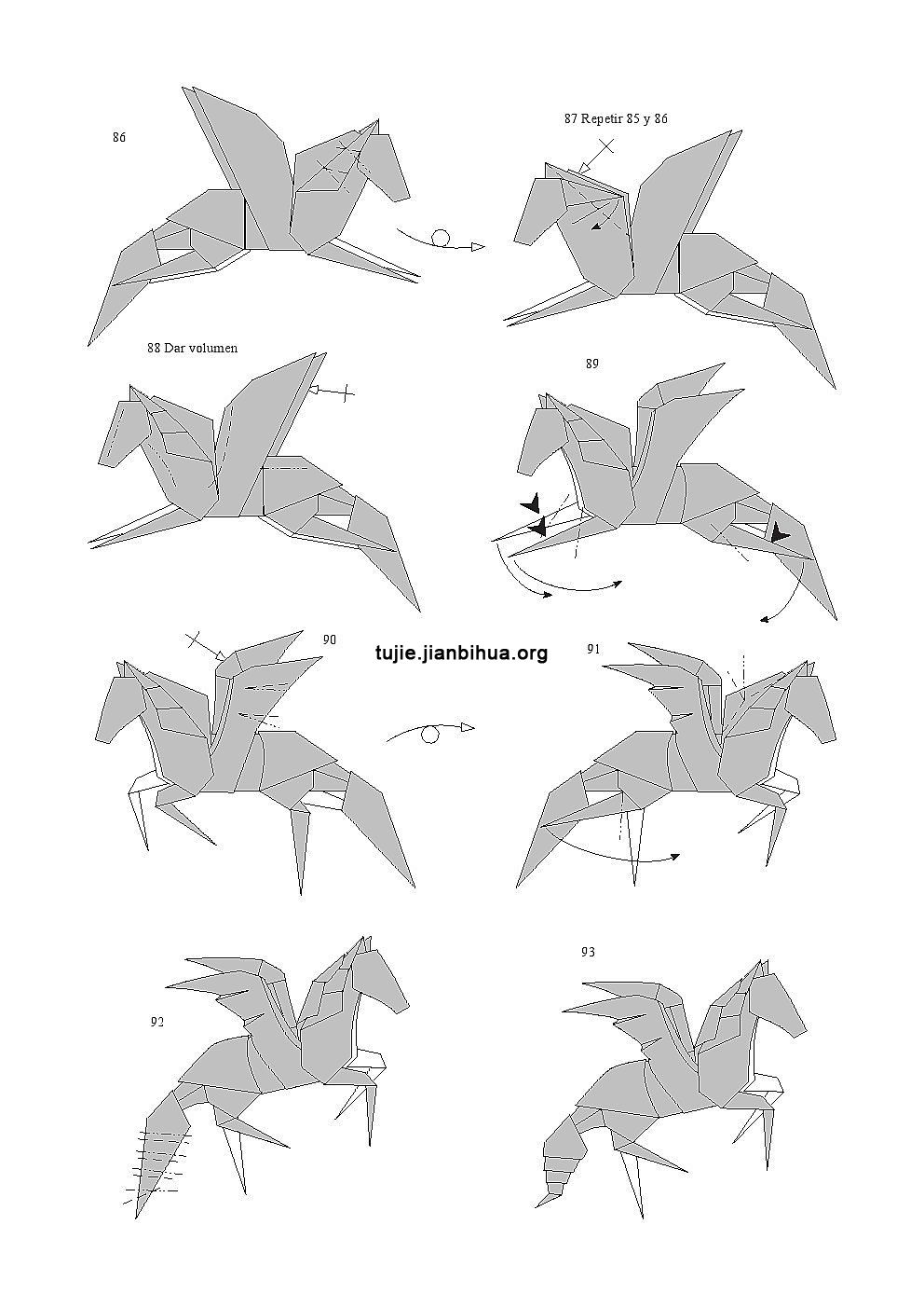 飞马的折纸方法图解(第4页)