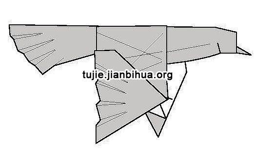一只逼真的鸽子折纸,喜欢小动物的小盆友们来试试吧.鸽子的折法图片