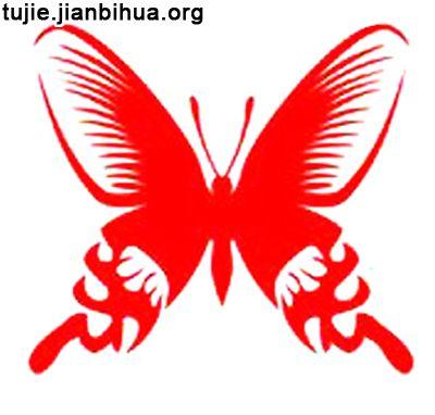 蝴蝶剪纸的做法步骤_幼儿999
